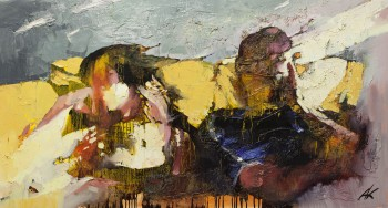 """אהרון קרביץ, 2013, שמן על בד, 110x60 ס""""מ"""