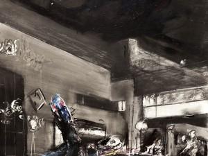 """איוון שוובל, 1995, שמן על עץ, 49x60 ס""""מ"""