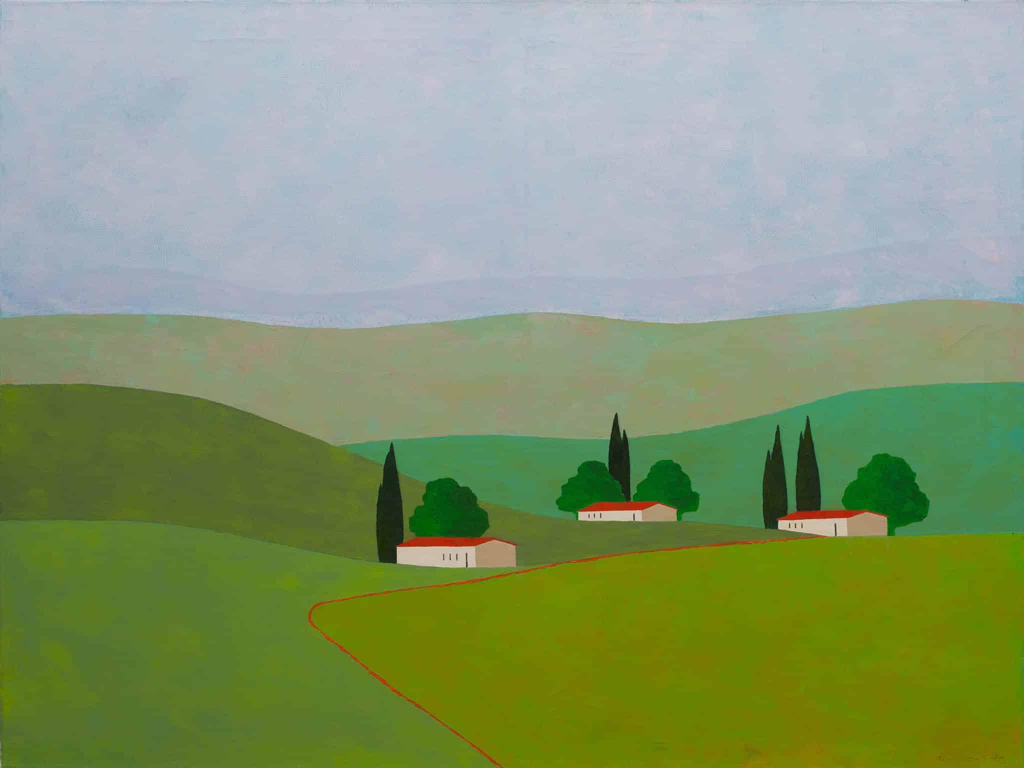 """איצו רימר, """"יבניאל"""", 2012, שמן על בד, 80x60 ס""""מ"""