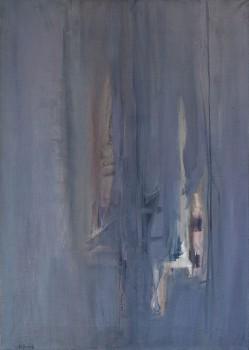 """משה קופפרמן, 1961, שמן על בד, 57x80 ס""""מ"""