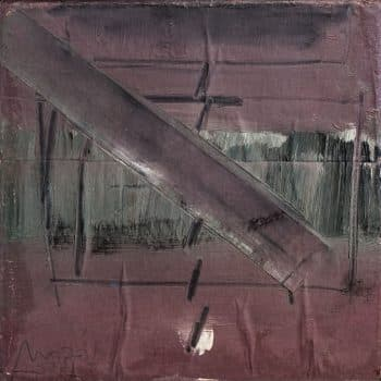 """משה קופפרמן, """"ללא כותרת"""", 1977, שמן על בד, 30x30 ס""""מ"""