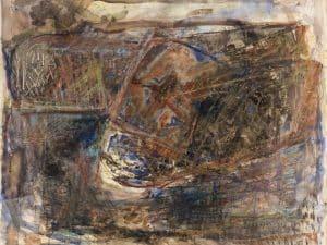 """יחזקאל שטרייכמן, """"ללא כותרת"""", 1988, אקוורל על נייר, 90x75 ס""""מ"""