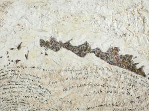 """אביבית בלס ברנס, """"שטח מעבר"""", שמן על בד, 89x130 ס""""מ"""