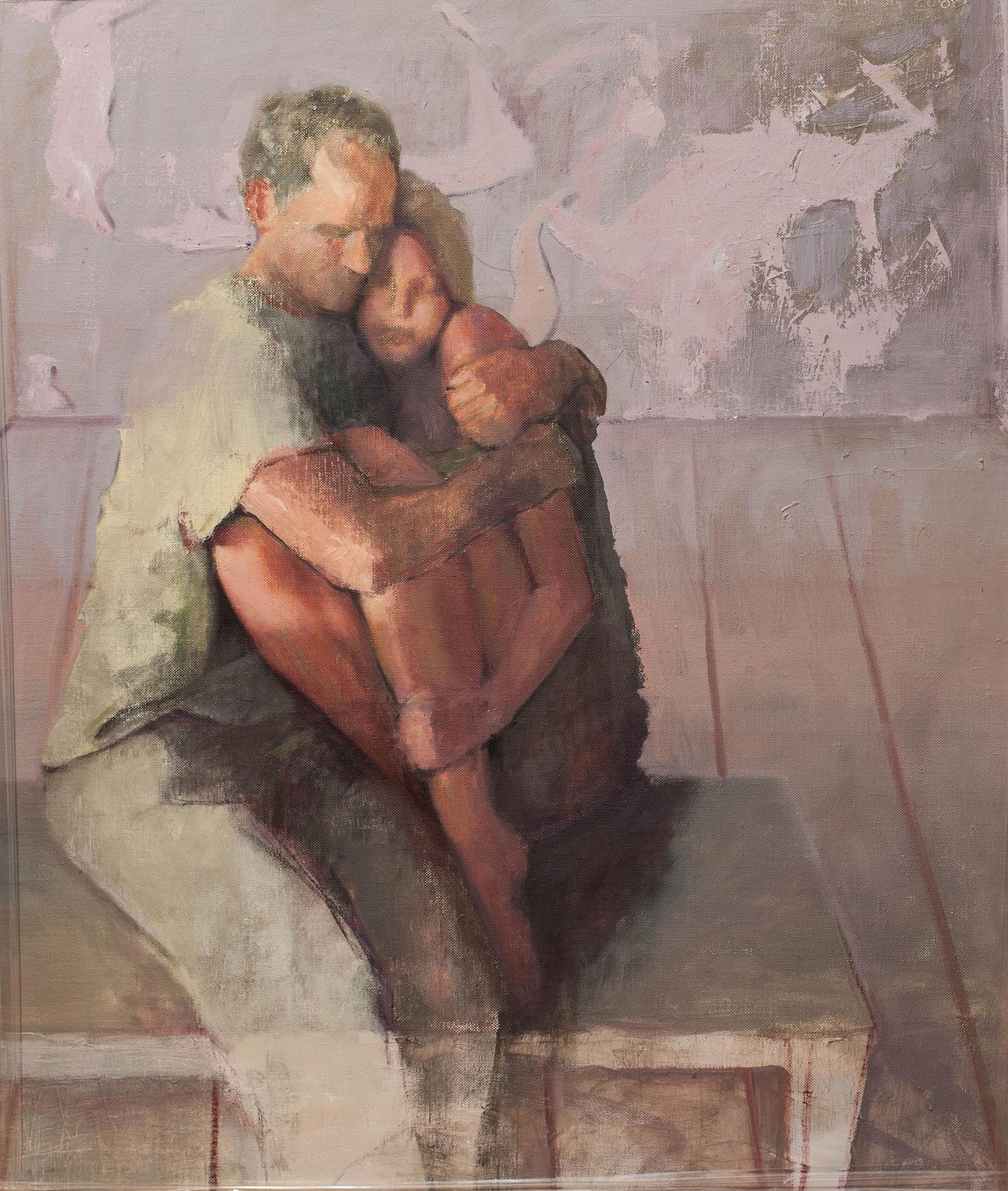 """אן בן אור, """"בת יפתח"""", 2009, שמן על בד,"""