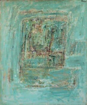 """פנחס אברמוביץ', """"חלון"""", שמן על בד, 60x116 ס""""מ"""