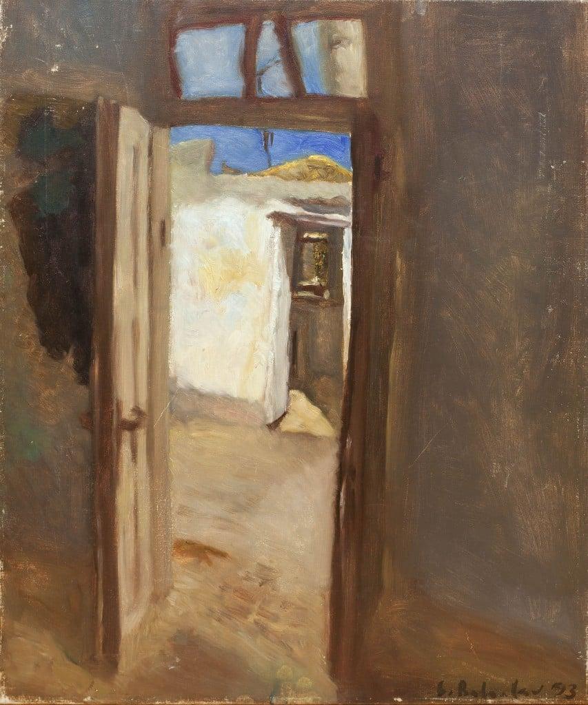 """לאוניד בלקלב, 1993, שמן על בד, 60x50 ס""""מ"""