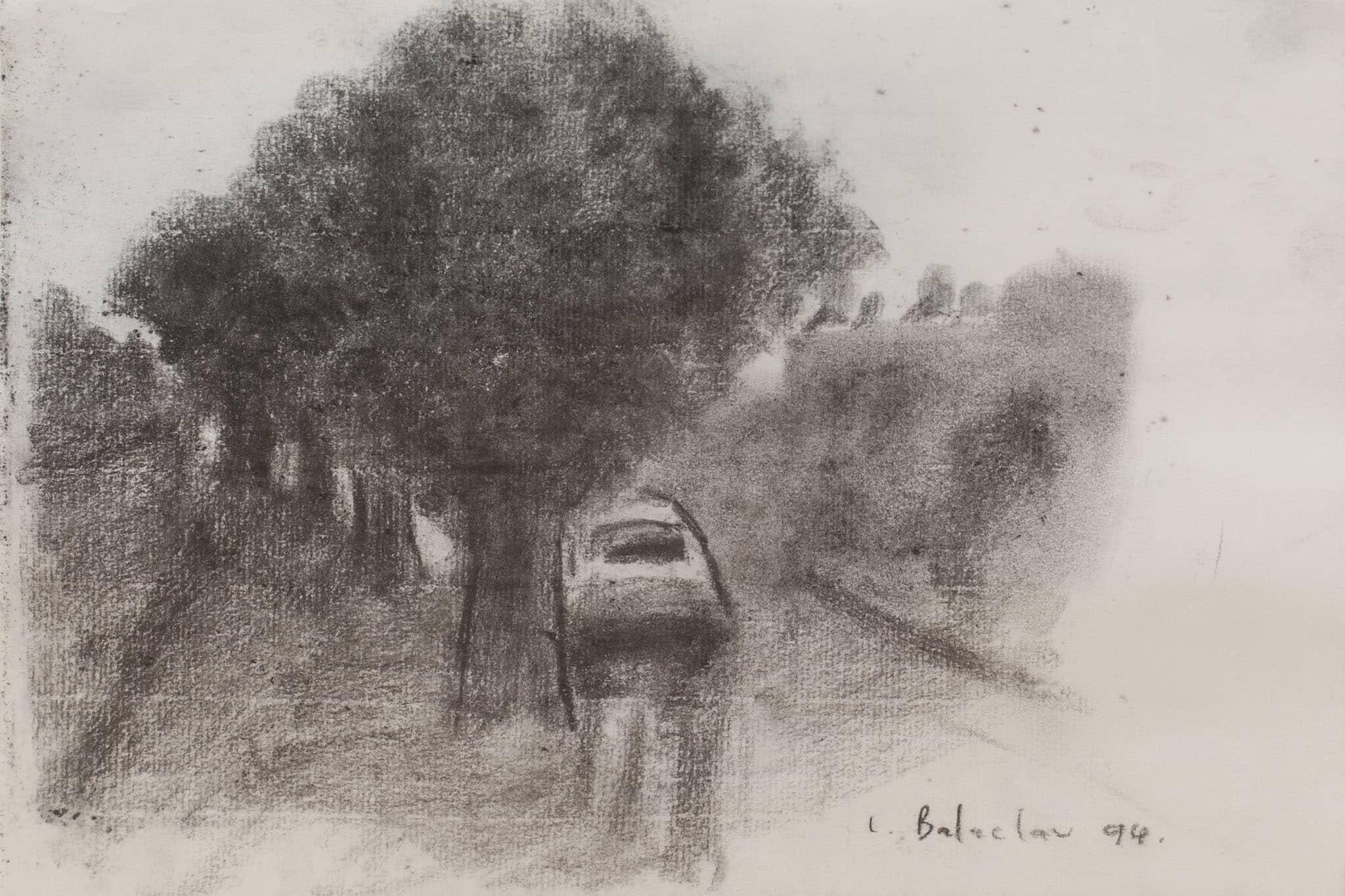 """לאוניד בלקלב, 1994, גרפיט על נייר, 30x20 ס""""מ"""