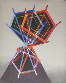 """יעקב וכסלר, 1968-1976, שמן על בד, 80x100 ס""""מ"""