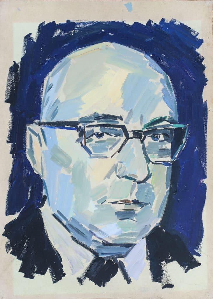 "פנחס ליטבינובסקי, ""דיוקן פנחס ספיר"", שמן על נייר, 50x70 ס""מ"