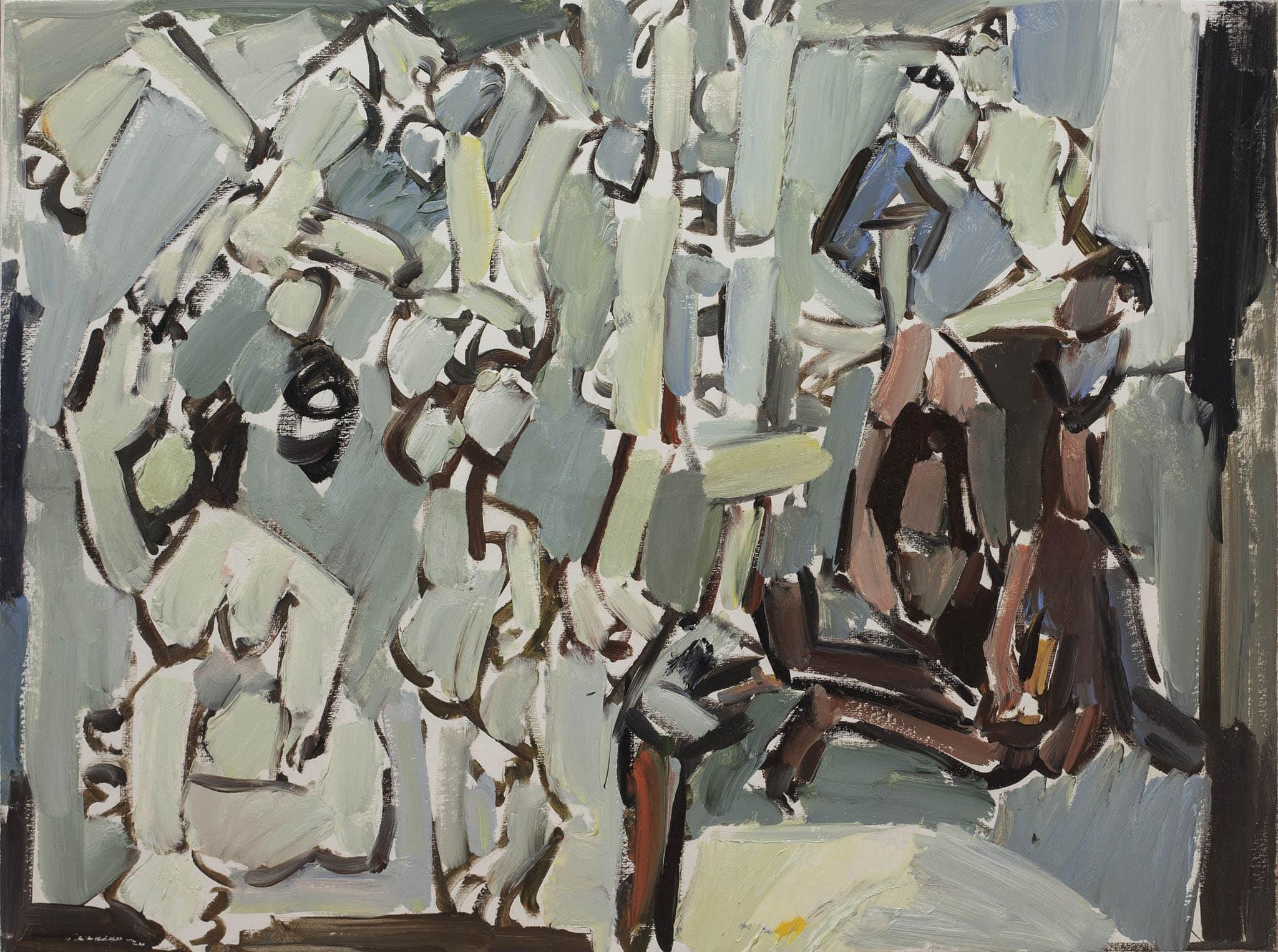 """פנחס ליטבינובסקי, """"שורש החיים"""", שמן על בד, 63x47 ס""""מ"""