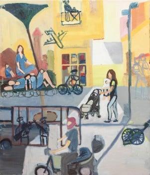 """שירה גפשטיין מושקוביץ, 2013, שמן על בד, 60x70 ס""""מ"""