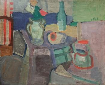"""שמואל טפלר, """"טבע דומם"""", 1973, 80x65 ס""""מ"""