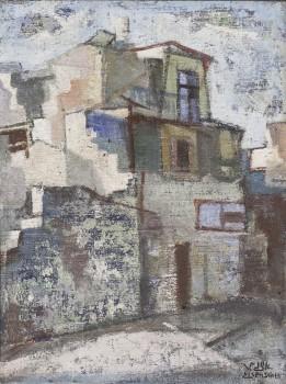 """יעקב איזנשר, שמן על קרטון, 23x34 ס""""מ"""