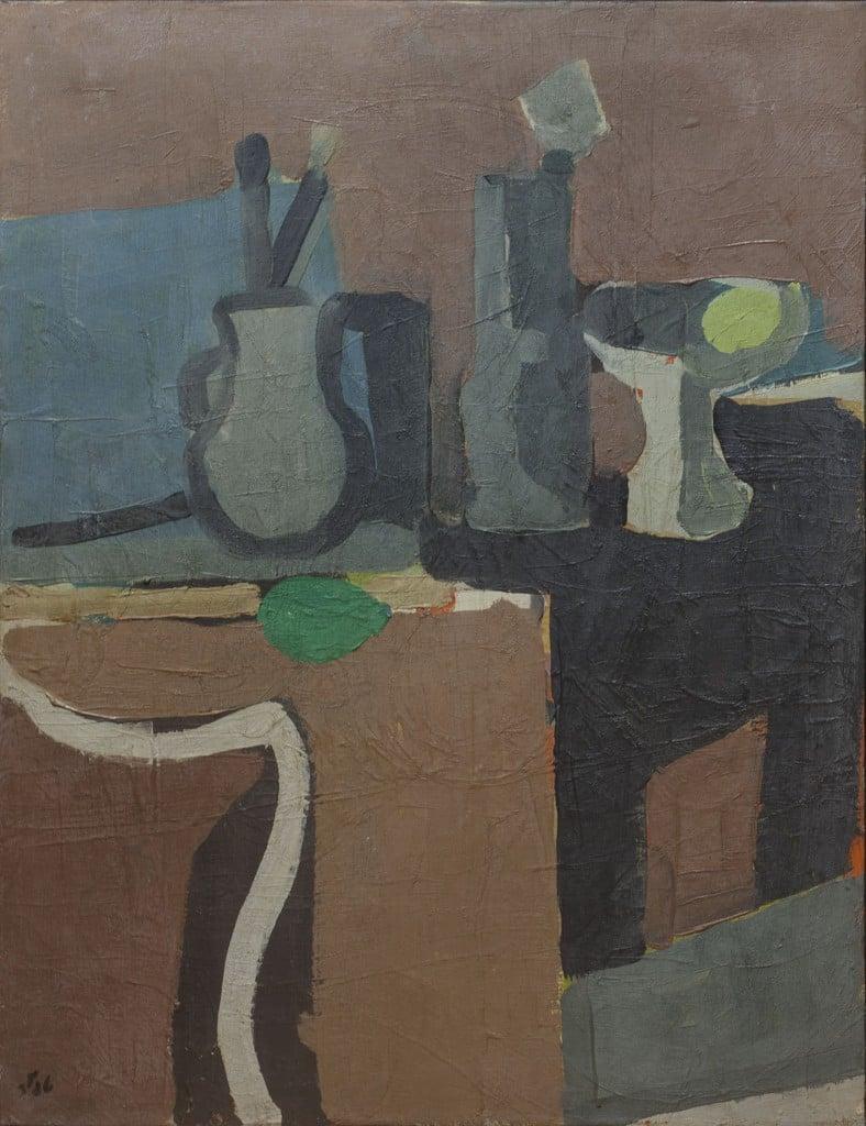 """שמואל טפלר, """"טבע דומם"""", 1978, שמן על בד, 50x65 ס""""מ"""
