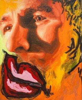 """רפי פרץ, 2001, אקריליק על בד, 90x110 ס""""מ"""