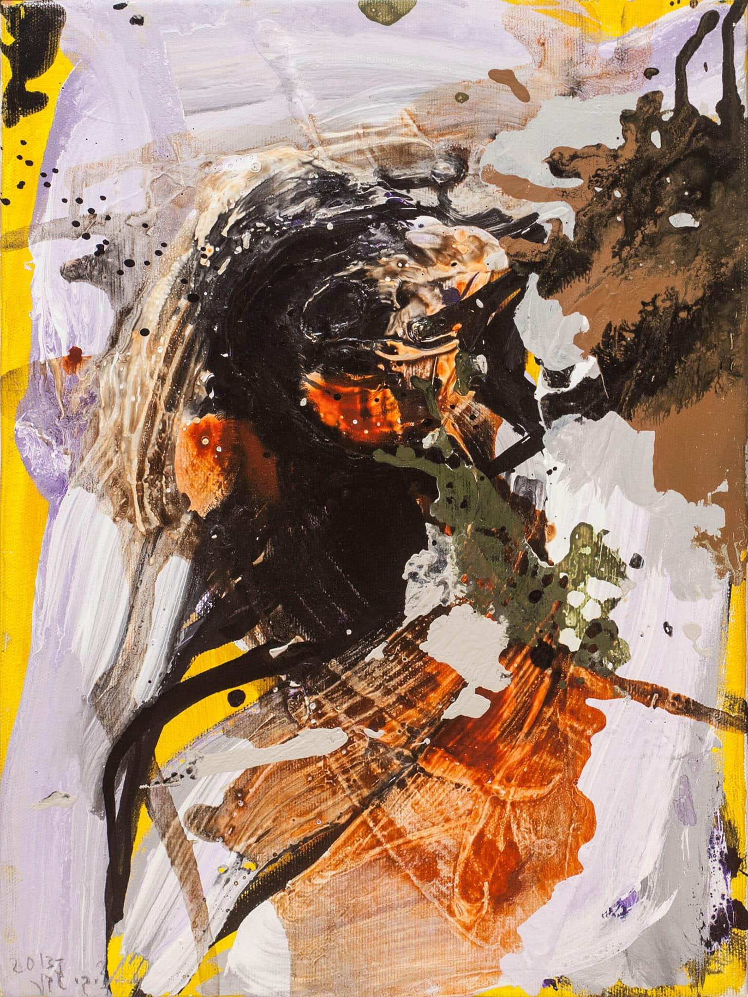 """ציבי גבע, """"ללא כותרת"""", 2013, שמן על בד, 30x40 ס""""מ"""