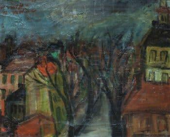 """רפאל מוהר, """"פריז"""", 1948, שמן על בד, 42x34 ס""""מ"""