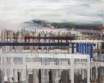 """עופרי מרום, """"צור יצחק"""", 2012, שמן על בד, 100x80 ס""""מ"""