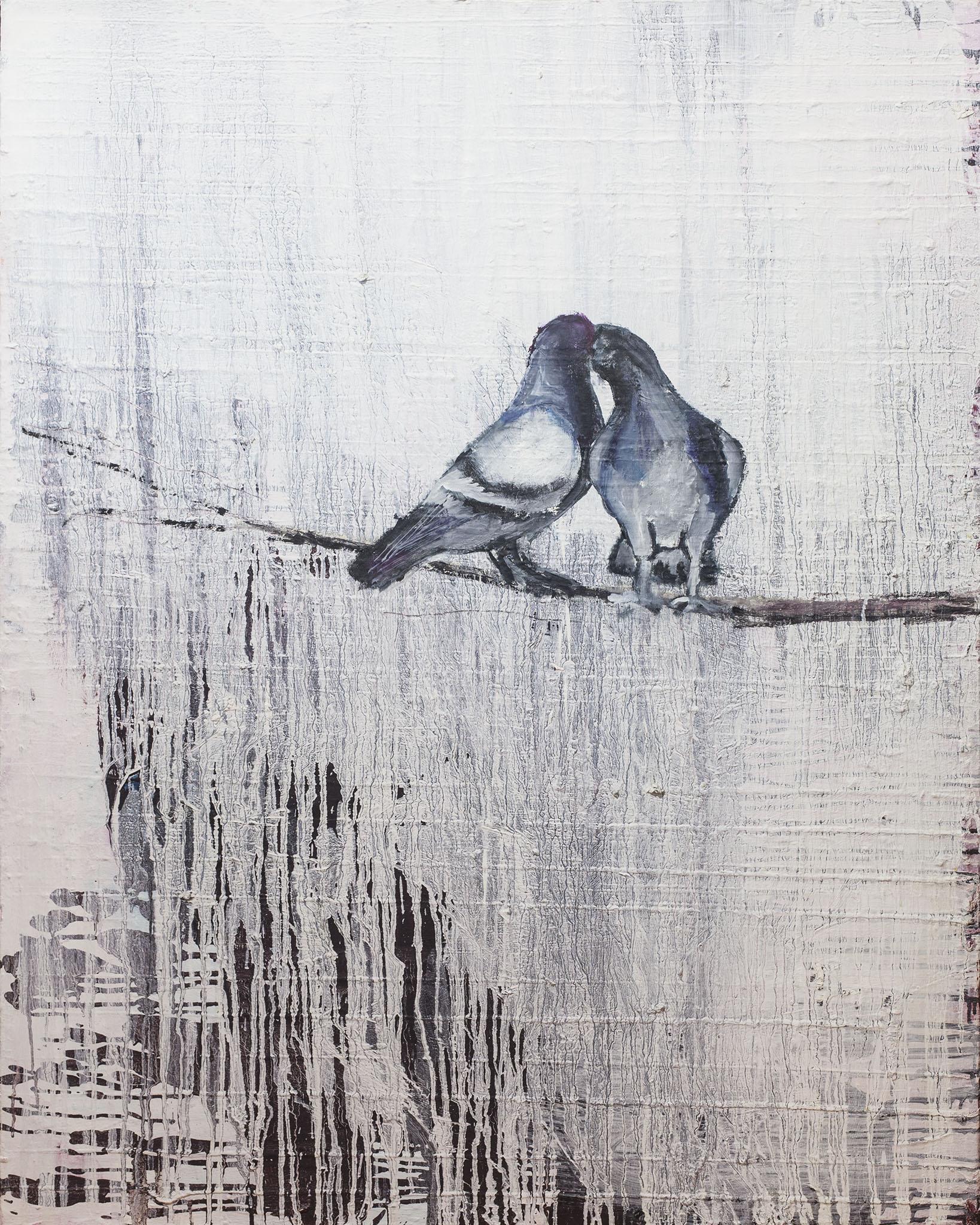 """עופרי מרום, """"זוג"""", 2006, שמן על בד, 80x100 ס""""מ"""
