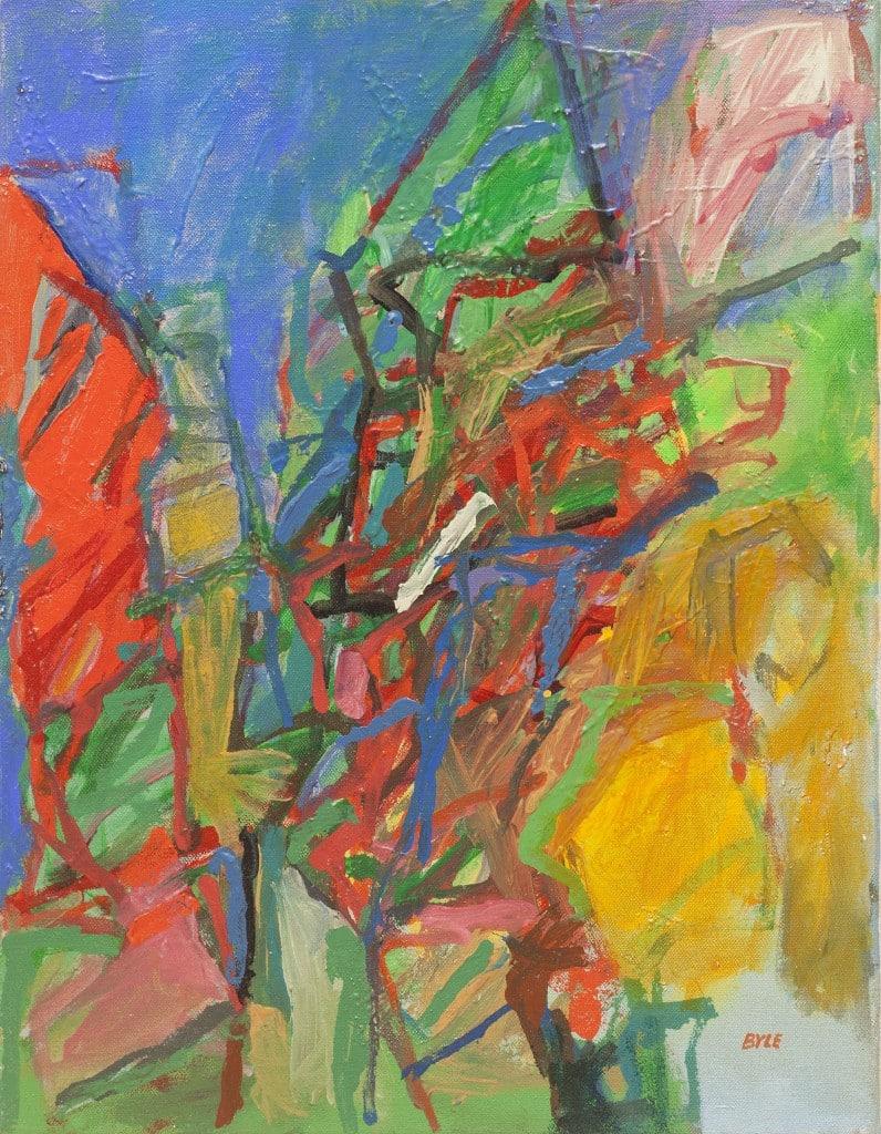 """ג'ון בייל, 1983, אקריליק על בד, 35x45 ס""""מ"""