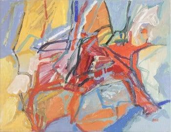 """ג'ון בייל, 1983, אקריליק על בד, 43x35 ס""""מ"""