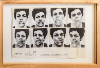"""יוכבד ויינפלד, """"דף תיעוד של תערוכתה הראשונה של יוכבד ויינפלד בגלריה דבל, ירושלים, 1974."""