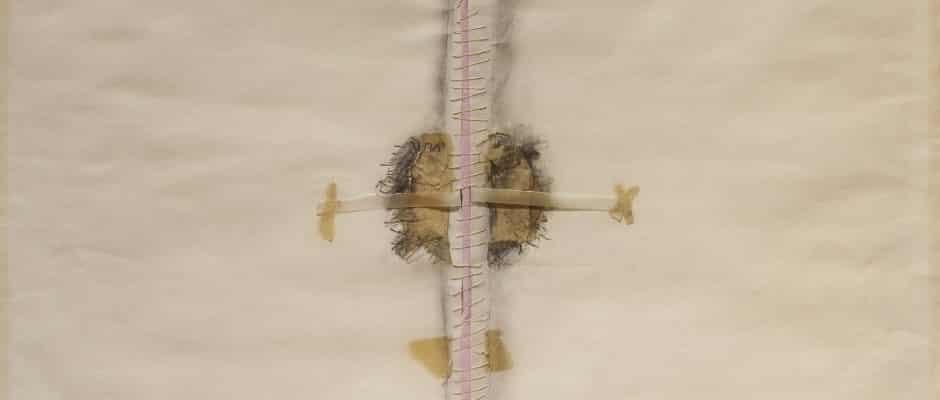 יוכבד וינפלד, 1973, טכניקה מעורבת על נייר, 44x58 ס