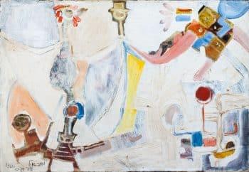 """מיכאל דרוקס, """"ללא כותרת"""", 1966, שמן על בד, 54x34 ס""""מ"""
