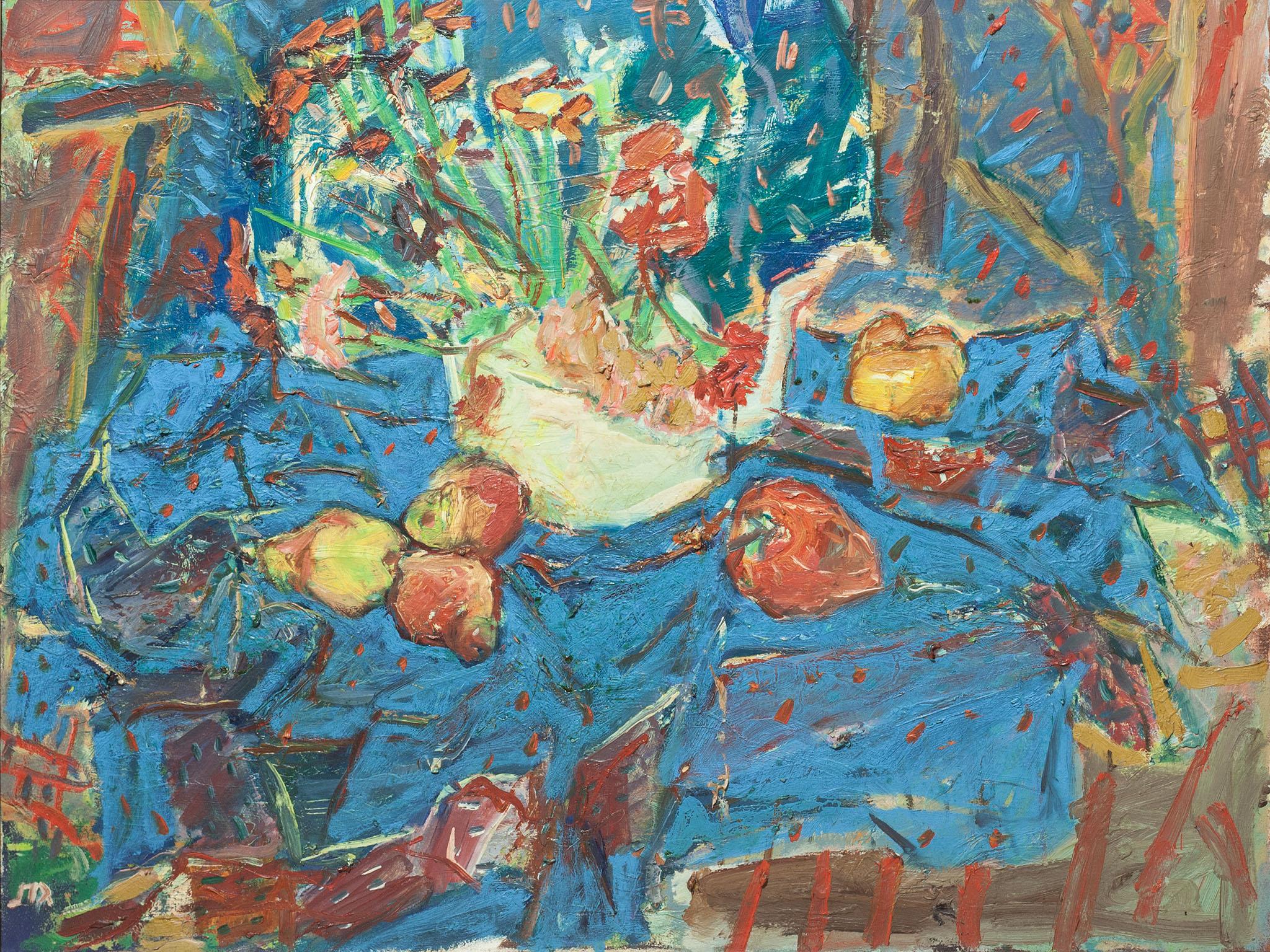 """אליהו גת, """"טבע דומם"""", 1979, שמן על בד, 80x60 ס""""מ"""