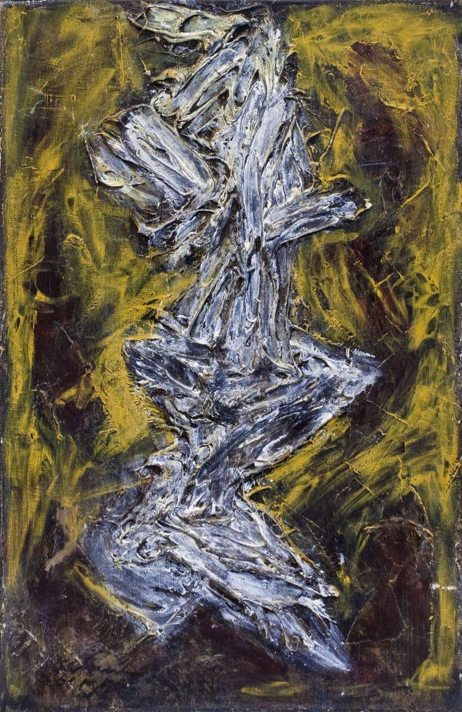"""אהרון כהנא, 1961, שמן על בד, 55x33 ס""""מ"""