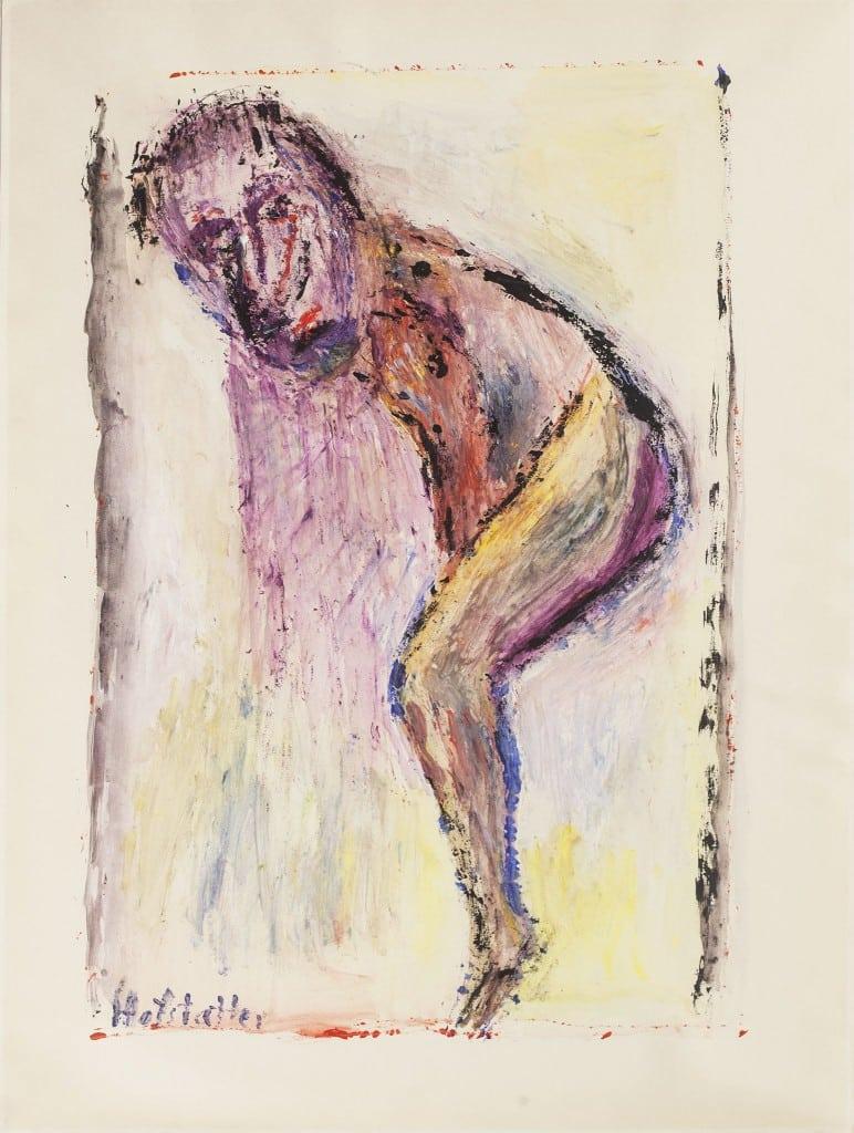 """אוזיאש הופשטטר, גואש על נייר, 55x73 ס""""מ"""
