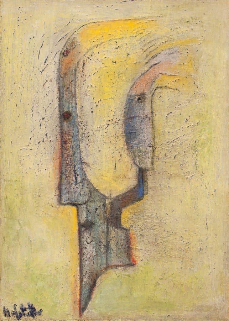 """אוזיאש הופשטטר, """"The Love of Destruction"""", שמן על בד, 50x70 ס""""מ"""
