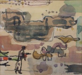 """אביגדור סטימצקי, 1955, 21x19 ס""""מ"""