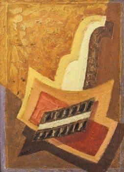 """יצחק אמיתי, שמן על מזוניט, 47x65 ס""""מ"""