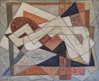 """אביגדור לואיזאדא, """"ללא כותרת"""", 1980, שמן על בד, 123x100 ס""""מ"""