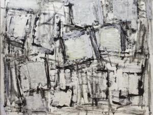 """יחיאל קריזה, """"ללא כותרת"""", שמן על בד, 92x73 ס""""מ"""