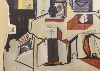 """אבנר בן-גל, """"ללא כותרת"""", 2010, שמן על בד, 120x85 ס""""מ"""