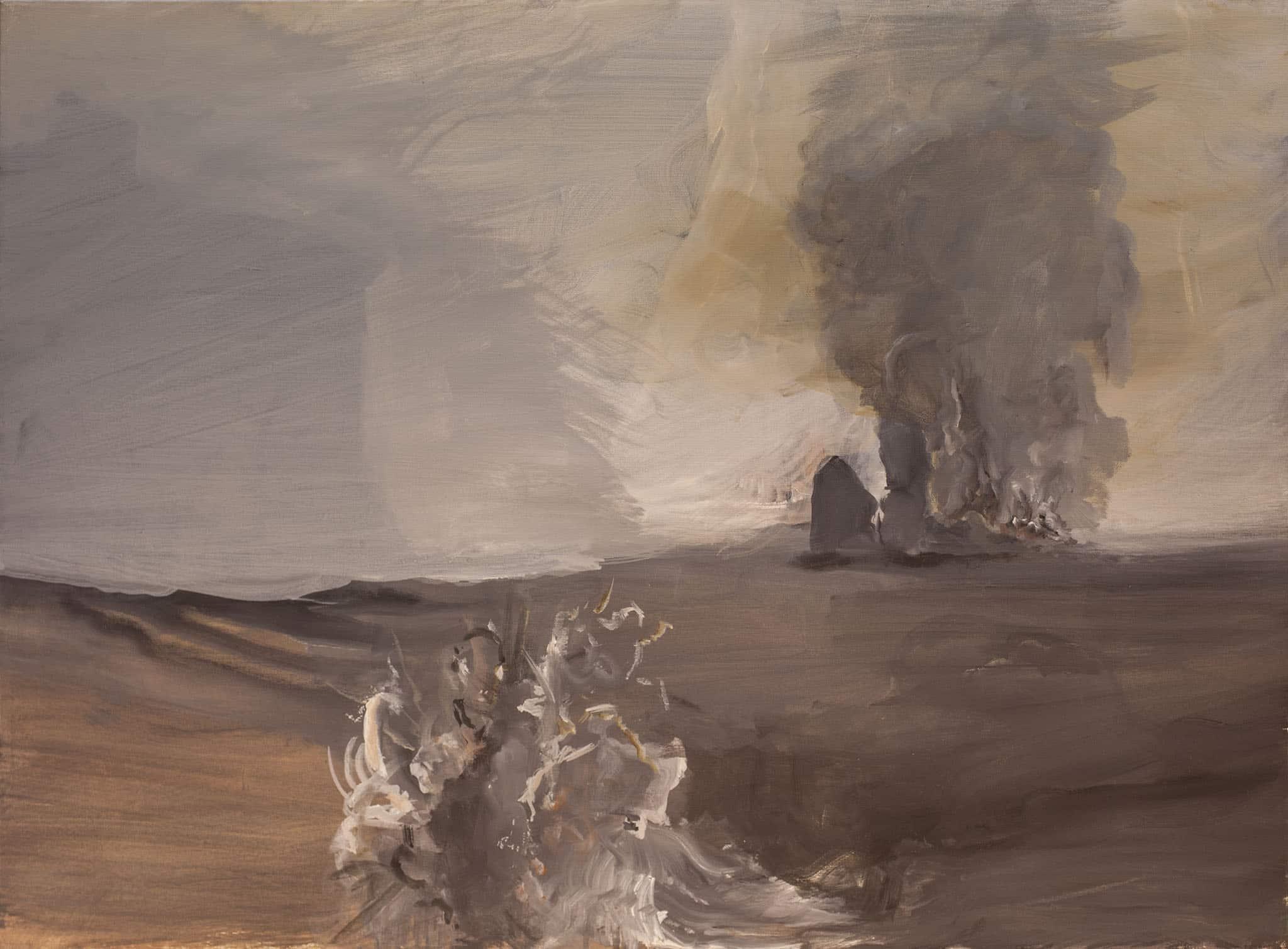 """אבנר בן גל, """"ארבה"""", 2004, שמן על בד, 95x70 ס""""מ"""