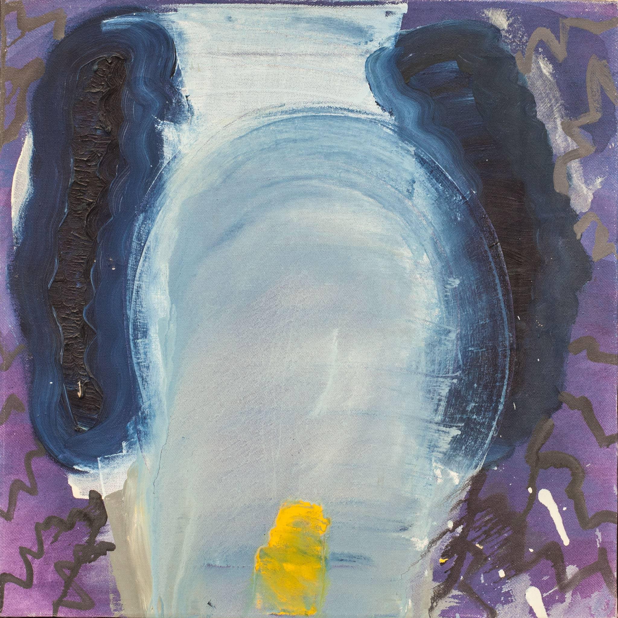 """לארי אברמסון, 1988, שמן על בד, 50x50 ס""""מ"""