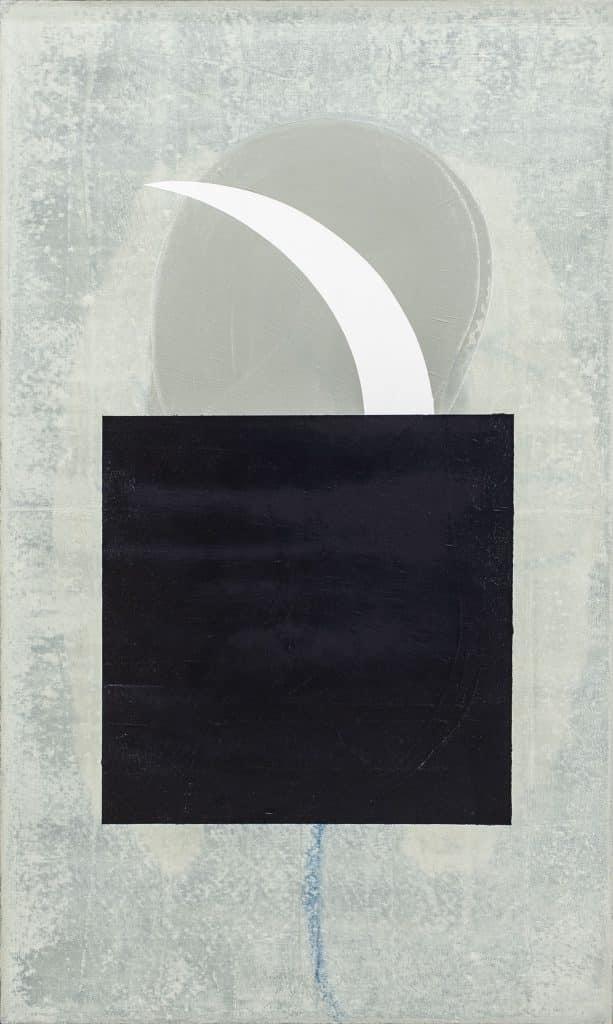 """לארי אברמסון, 1999, שמן על בד, 45x75 ס""""מ"""