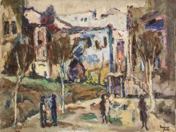 """יהודה רודן, """"נוף כפרי"""", שמן על בד, 60x45 ס""""מ"""