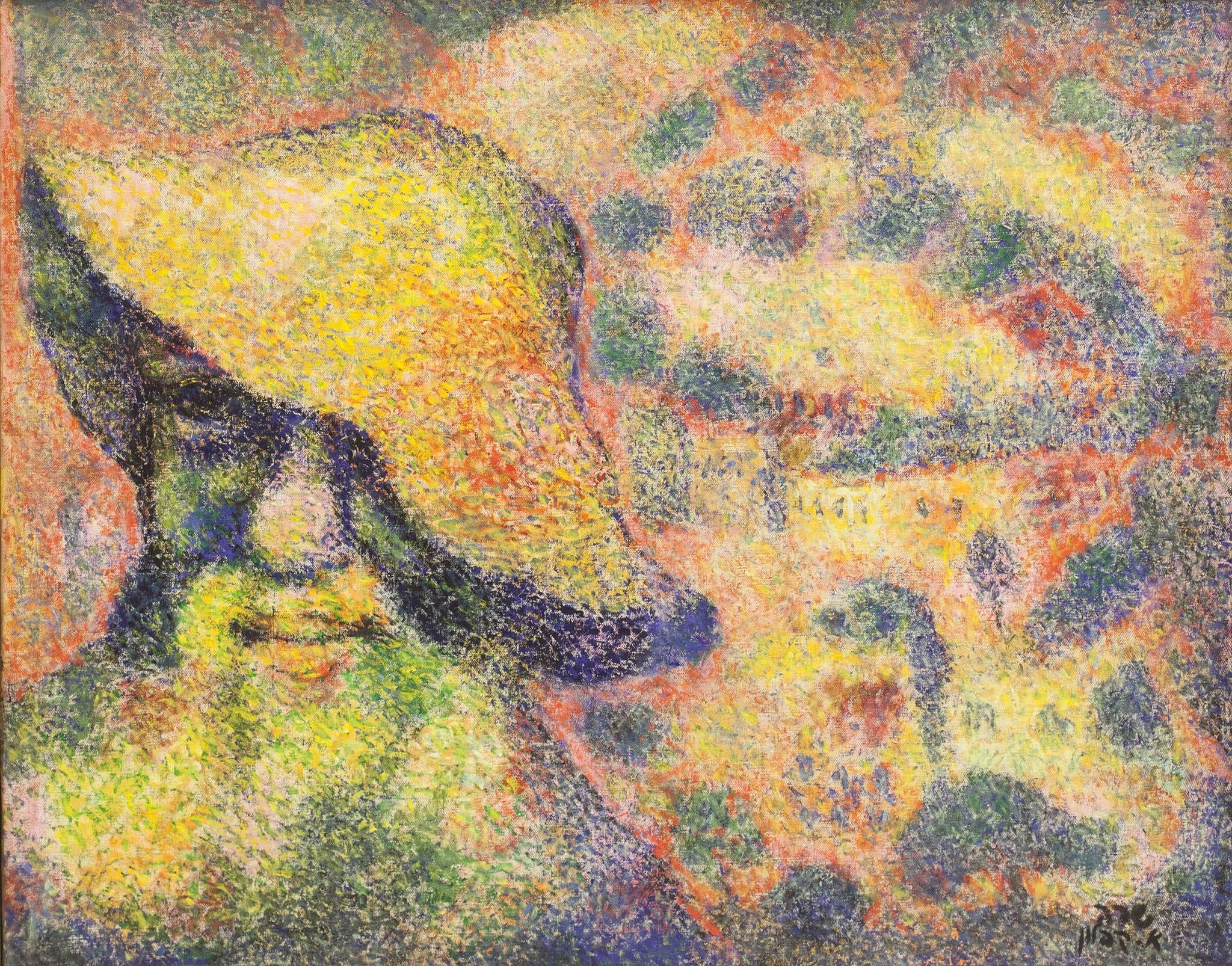 """אריה קפלון, שמן על בד, 65x51 ס""""מ"""