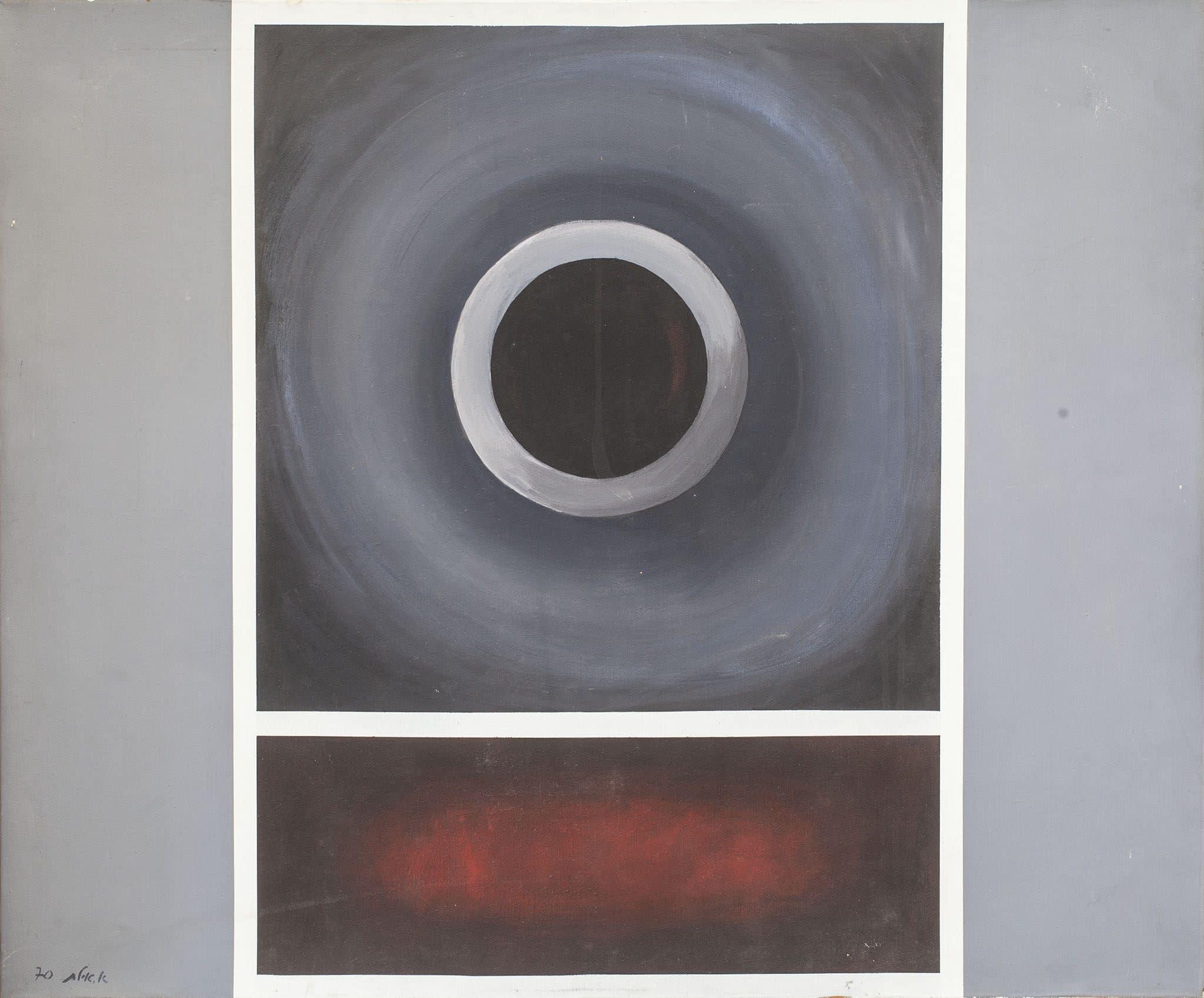 """אברהם אילת, 1970, שמן על בד, 88x73 ס""""מ"""
