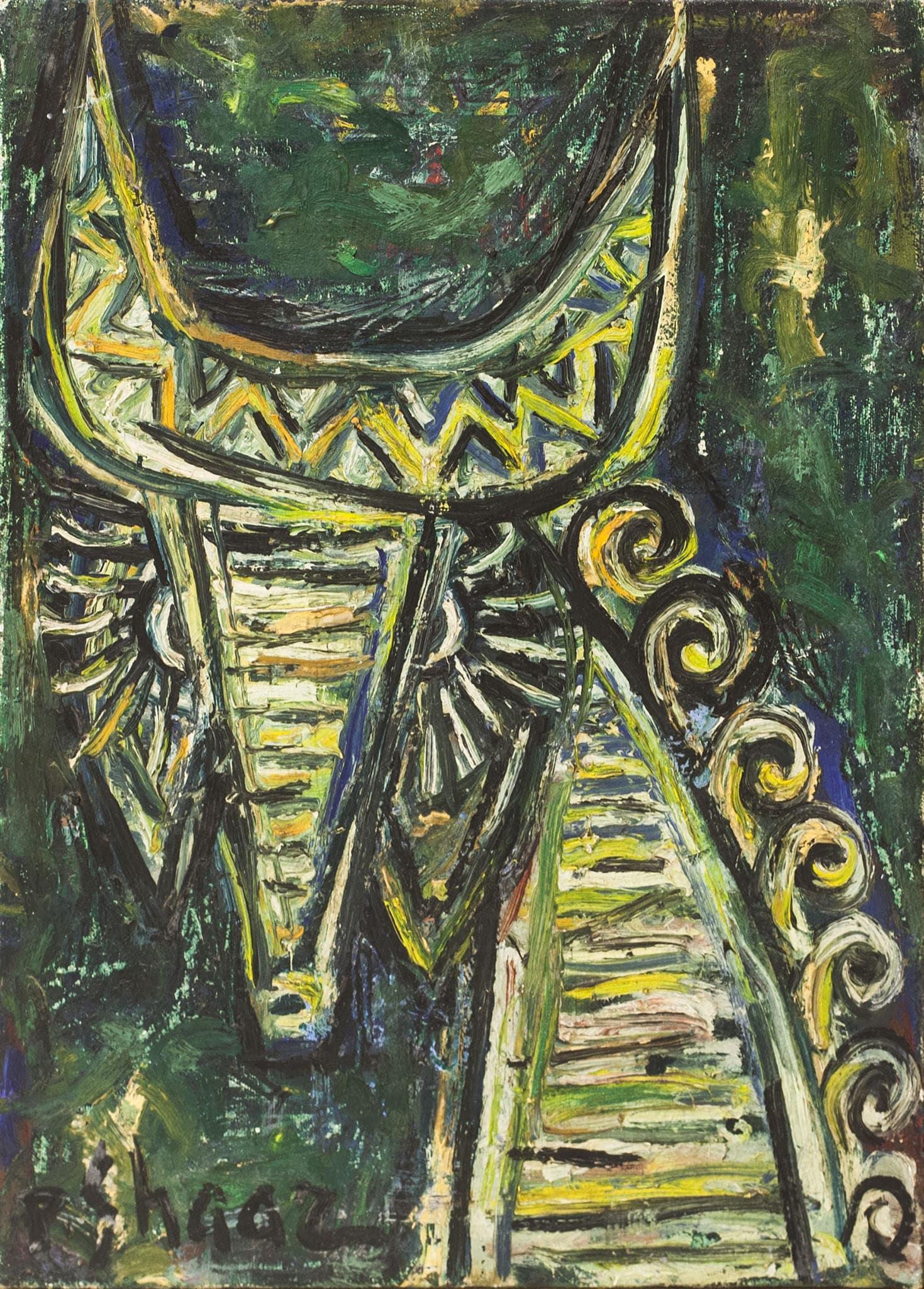 "פנחס שער, שמן על בד, 33x46 ס""מ"