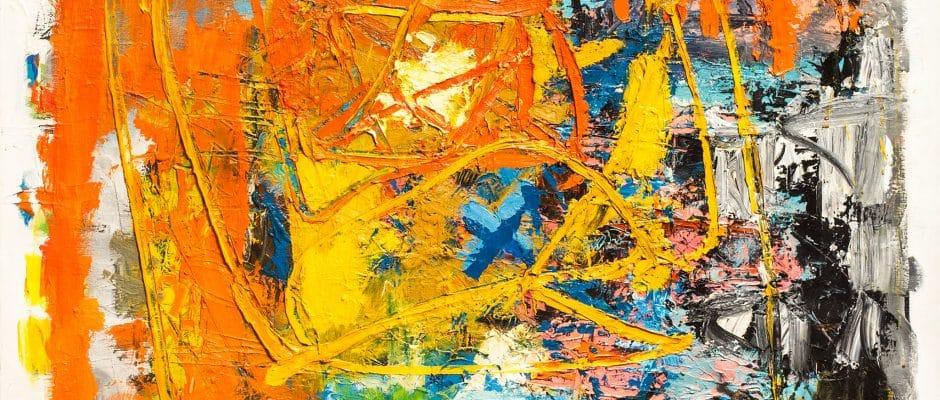 """אתי לב, """"ללא כותרת"""", 2009, שמן על בד, 110x100 ס""""מ"""