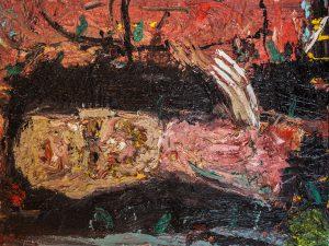 """מריק לכנר, 2012, שמן על בד, 76x95 ס""""מ"""