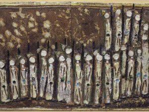"""ג'ניה ברגר, """"...קם שבט מישראל"""", 1970, קרמיקה, 41x63 ס""""מ"""
