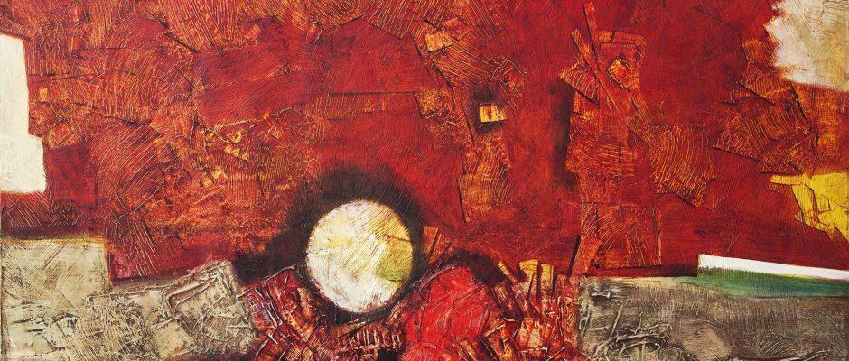 נסים זלאיט, 1987, שמן על בד, 99x73 ס